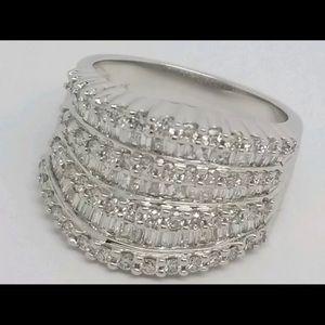 Effy Wide Band Diamond Ring